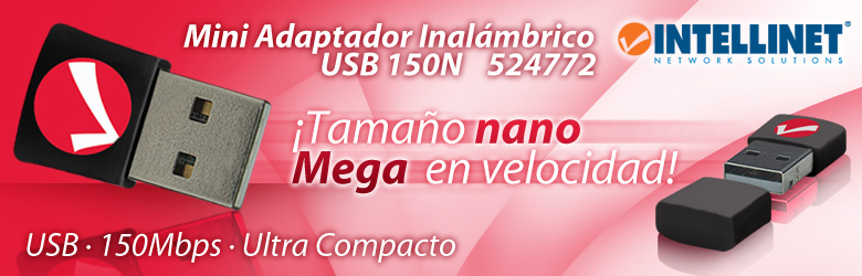 Mini Adaptador Inalámbrico USB 150N 524772