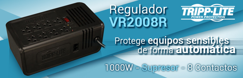 Regulador Tripp Lite VR2008R