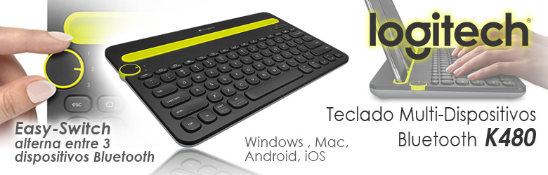 Teclado Bluetooth K480 Multi-Dispositivos