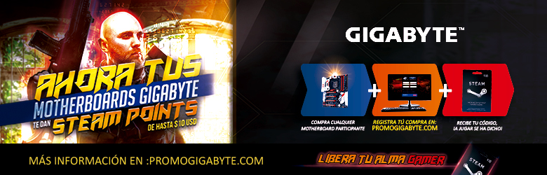 Promoción Motherboards Gigabyte Steam Points