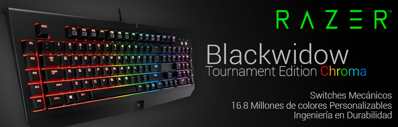 teclado gaming razer blackwidow tournament edition chroma
