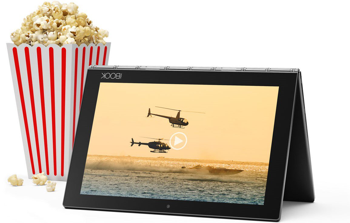 Laptop Lenovo Yoga Book 2 en 1 en Uso Multimedia Cine