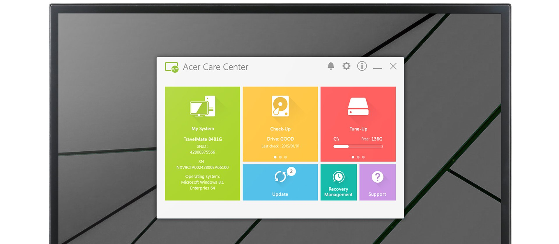 Vista Acer Care Center de Aspire ATC de venta en Tienda Intercompras