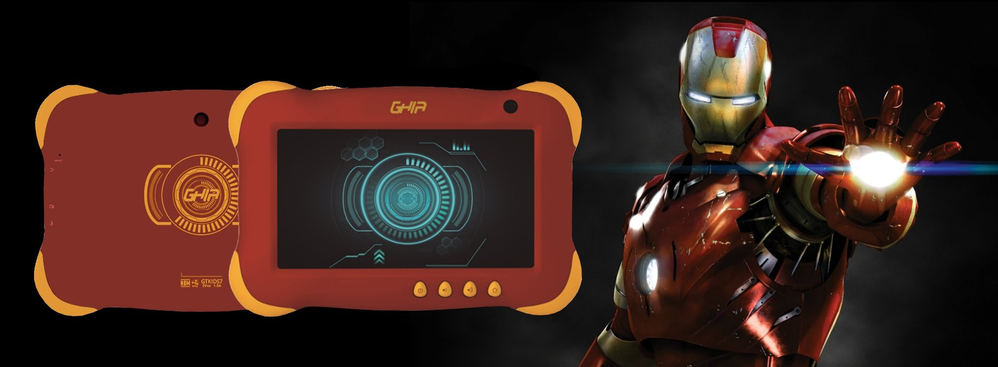 Banner de Tablet Ghia Axis Kids Iron Man GTKIDS7R