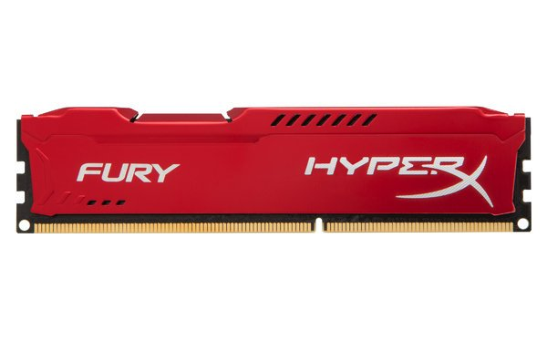 Memoria Ram Kingston Fury 8GB DDR3 roja