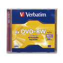 DVD+RW 4.7GB 4X Branded 1pk Jewel Case