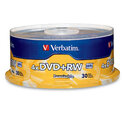 DVD+RW 4.7GB 4X Branded 30pk Spindle