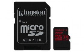 Memoria MicroSDHC Kingston Technology - 32GB - Clase 10 - UHS-I - V30 - A1 - C/Adaptador